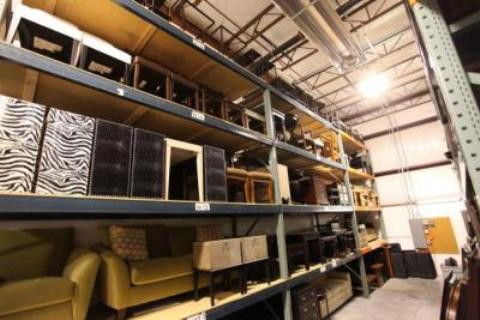 warehouse shelving installation project