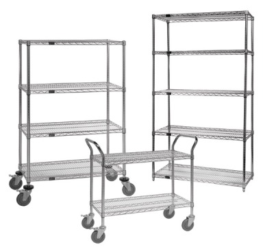 wire shelving for air circulation