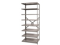 Open Shelving Add-on Unit - Medium Duty - 8 Shelf