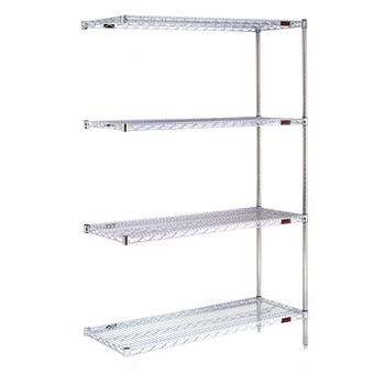 Stationary Wire Shelving Unit Add-on