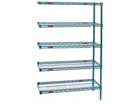 Stationary Wire Shelving Add-on Unit - Model A4-63 Valu-Gard