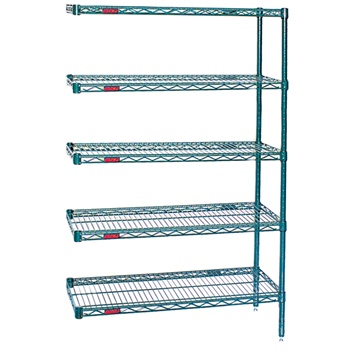 Stationary Wire Shelving Unit Add-on Valu-Gard