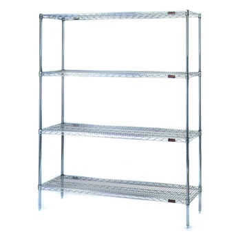 Stationary Wire Shelving - Starter Units